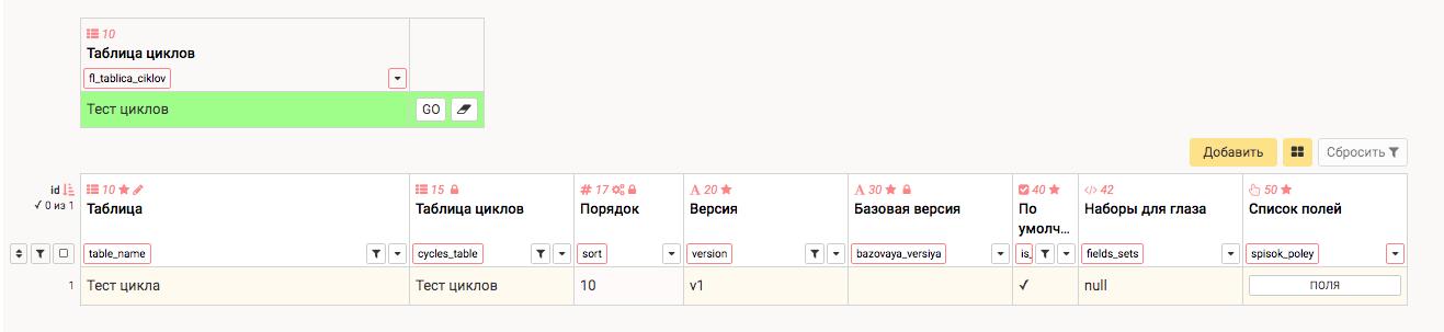 Версии расчетных таблиц